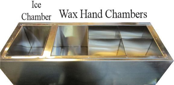 Wax Hand Unit With Insulated Ice Chamber